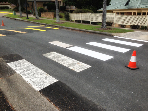 A cool before and after style image showing the difference line marking can make.