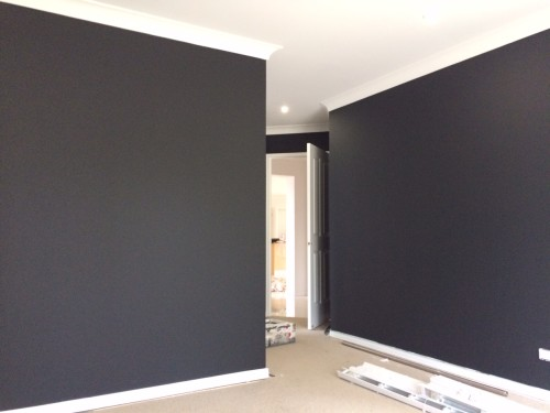 a black paint colour